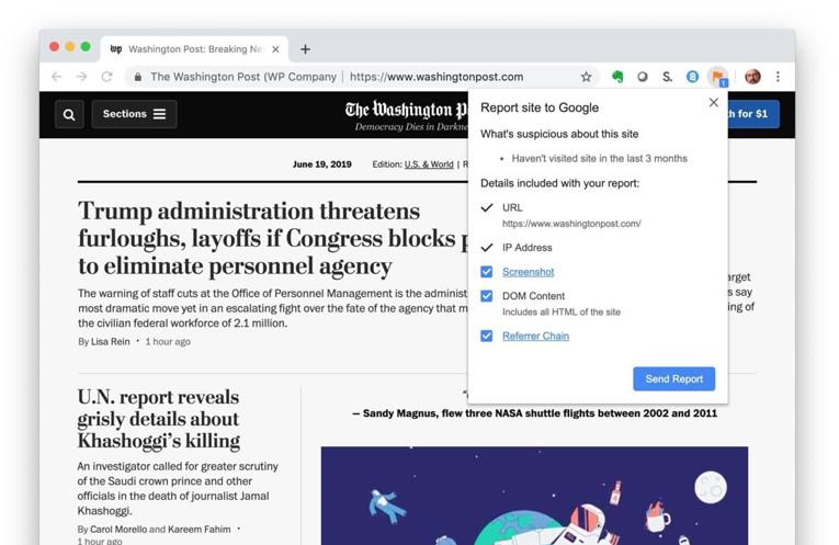 گوگل از کاربران کروم برای کمک به شناسایی سایتهای فریبنده سؤال میکند